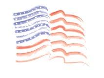 Bandiera americana astratta Immagini Stock
