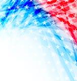 Bandiera americana astratta per la festa dell'indipendenza Fotografie Stock Libere da Diritti