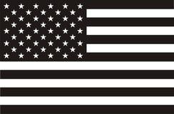 Bandiera americana in in bianco e nero