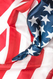 Bandiera americana con il nodo Immagini Stock Libere da Diritti