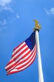 Bandiera americana con l'aquila Immagini Stock