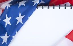 Bandiera americana con lo spazio della copia Immagini Stock