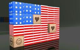 bandiera americana 3d Fotografia Stock Libera da Diritti