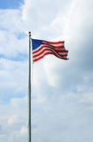 Bandiera americana d'ondeggiamento Fotografie Stock Libere da Diritti