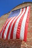 Bandiera americana d'ondeggiamento Fotografia Stock Libera da Diritti