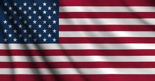 Bandiera americana degli S.U.A. Immagine Stock