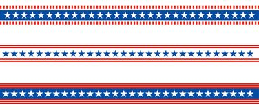 Bandiera americana degli S.U.A. del divisore patriottico del confine illustrazione vettoriale