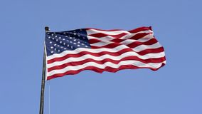 Bandiera americana del patriota video d archivio