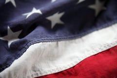 Bandiera americana del primo piano Fotografie Stock