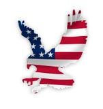 Bandiera americana dell'aquila Fotografia Stock