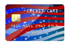 Bandiera americana della carta di credito Immagine Stock