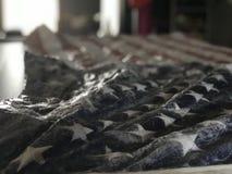 Bandiera americana della tempesta di ghiaccio fotografia stock