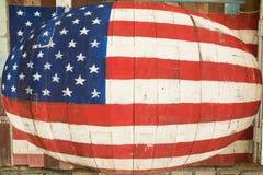 Bandiera americana di progettazione su fondo di legno Fotografie Stock Libere da Diritti