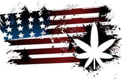 Bandiera americana di Rastafarian illustrazione di stock