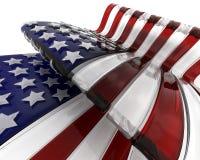 Bandiera americana di vetro Immagini Stock