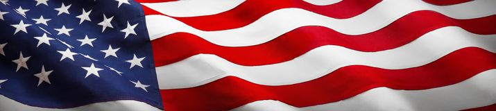 Bandiera americana di Wave fotografia stock libera da diritti