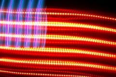 Bandiera americana elettrica variopinta Fotografie Stock