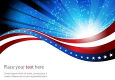Bandiera americana, fondo astratto del illustrazione di stock