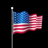Bandiera americana. Illustrazione di vettore. Immagini Stock Libere da Diritti
