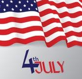 Bandiera americana, illustrazione patriottica di vettore Immagini Stock