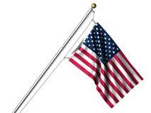 Bandiera americana isolata Fotografia Stock Libera da Diritti