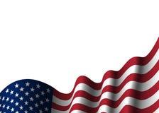Bandiera americana isolata Immagini Stock