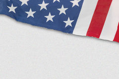 Bandiera americana isolata su bianco Fotografie Stock Libere da Diritti