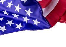 Bandiera americana isolata su fondo bianco con il percorso di ritaglio Immagine Stock Libera da Diritti