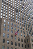 Bandiera americana in Manhattan, New York Immagine Stock Libera da Diritti