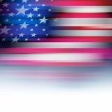 Bandiera americana nello stile della sfuocatura, bianco sbiadito Fotografia Stock