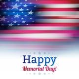Bandiera americana nello stile della sfuocatura, bianco sbiadito Fotografie Stock Libere da Diritti