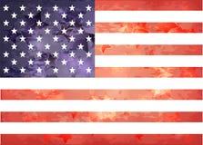 Bandiera americana nello stile invecchiato Fotografie Stock Libere da Diritti