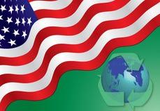 Bandiera americana - ricicli il concetto Fotografia Stock