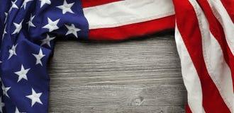 Bandiera americana rossa, bianca e blu Fotografia Stock