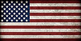 Bandiera americana rustica Immagine Stock