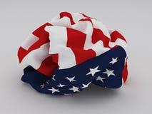 Bandiera americana sgualcita Immagini Stock