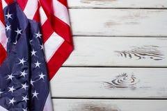 Bandiera americana sgualcita fotografie stock