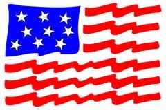 Bandiera americana stilizzata Immagine Stock Libera da Diritti
