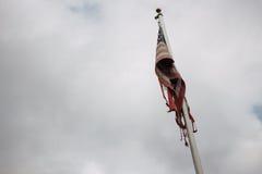Bandiera americana stracciata Fotografia Stock Libera da Diritti