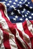 Bandiera americana in su 4 vicini Immagine Stock