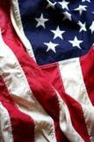 Bandiera americana in su 5 vicini Fotografia Stock Libera da Diritti