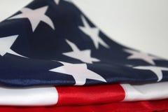 Bandiera americana su fondo bianco Immagini Stock Libere da Diritti
