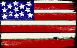 Bandiera americana su legno Fotografia Stock Libera da Diritti