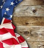 Bandiera americana sui bordi Fotografia Stock
