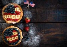 Bandiera americana sulla torta Fotografia Stock