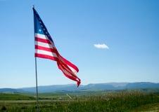 Bandiera americana sulle pianure Fotografie Stock