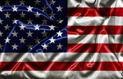 Bandiera americana - tessuto d'ondeggiamento Fotografia Stock Libera da Diritti