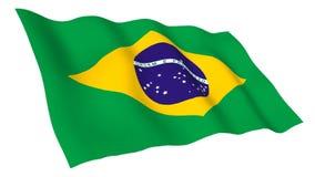 Bandiera animata del Brasile illustrazione di stock