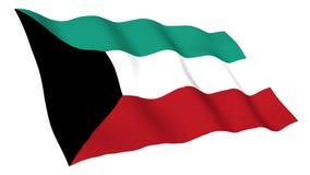 Bandiera animata del Kuwait royalty illustrazione gratis