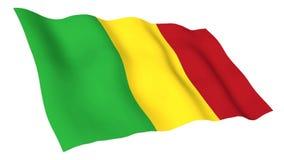 Bandiera animata del Mali royalty illustrazione gratis